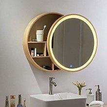 DJPP Mirrors,Solid Wood Bathroom Cabinet Vanity