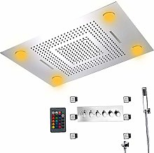 DJPP Water-Tap Bath Shower Systems Led Remote