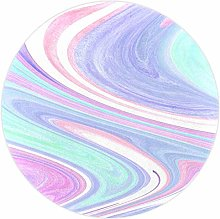 DJROWW Round Area Rug Abstract Watercolor Marble