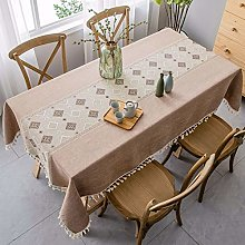 DJUX Home tablecloth embroidery cotton linen