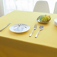 DJUX Lemon Yellow Table Cloth Household Cotton