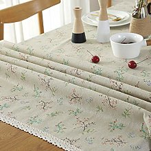 DJUX Rectangle Red White Check Tablecloth Matt