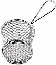 DJYJD Metal Mini Frying Basket Fry Strainer Potato