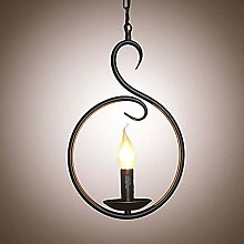 DKee ceiling light LED Ring Chandelier Painted