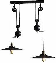 DKEE chandeliers 2 Lamp Cone Chandelier Lamp Down