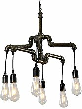 DKEE chandeliers 6 Retro Industrial Tube Simple