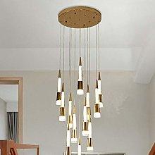 DKEE chandeliers Golden Crystal Stair Light Duplex