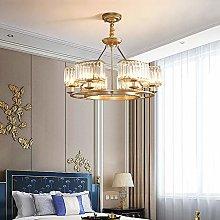 DKEE chandeliers Golden Round Crystal Chandelier