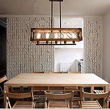 DKEE chandeliers Retro Industrial Wind Wood