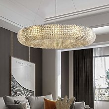 DKEE chandeliers Round Crystal Ring Chandelier