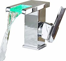 DKee faucet Color Change Waterfall Single Hole