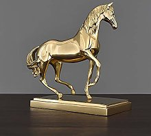 DKee home decorations Brass Horse Office Bookcase