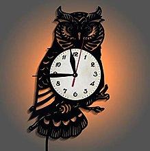 DKEE Wall clock Fashion Creative Forest Owl Vinyl