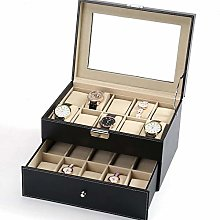 DKEE watch box Watch Display Cabinet PU Leather