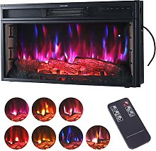 DKIEI 28inch Wall Mounted Electric Fireplace with