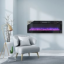 DKIEI 36inch Wall Mounted Electric Fireplace Suite