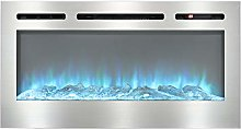 DKIEI 50inch Wall Mounted Electric Fireplace Suite