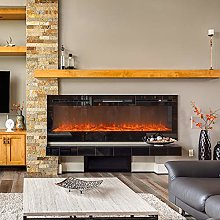DKIEI 60inch Wall Mounted Electric Fireplace Suite