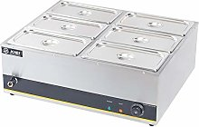 DKIEI Commercial Electric Food Warmer 6 Pans