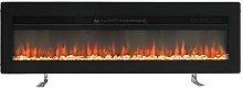DKIEI Electric Fireplace 50inch Wall Mounted