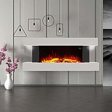 DKIEI Electric Fireplace Wall Mounted Fire with