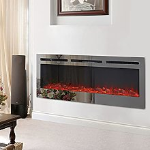 DKIEI Wall Mounted Electric Fireplace Suite With