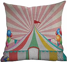 DKISEE Bed Pillowcase Circus, Old Style Vintage