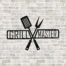 DKISEE Grill Master Metal Sign Great Father's