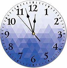 DKISEE Mosaic Gradient Purple Wall Clock 10 Inch