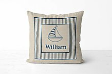 DKISEE Personalized Kids Sailboat Pillowcase,