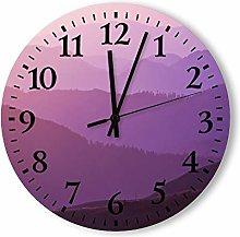 DKISEE Silent Non Ticking Quartz - Lilac Foggy