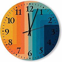 DKISEE Silent Non Ticking Quartz - Retro 70s Color