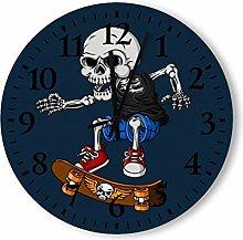 DKISEE Silent Non Ticking Quartz - Skull Playing