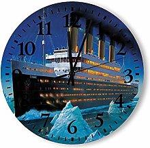 DKISEE Silent Non Ticking Quartz - Titanic Wooden