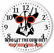 DKISEE Silent Non Ticking Quartz - Who Let The Cow
