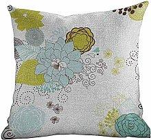 DKISEE Standard Pillowcase Floral, Pastel Pattern