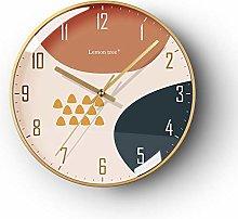 DKLGH Light luxury Nordic wall clock simple modern