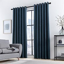 DKNY - Madison Lined Curtains - Navy - 228x182cm