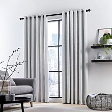 DKNY - Madison Lined Curtains - Silver - 167x182cm