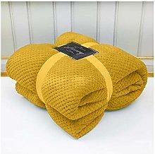 dl Throws Blanket King Size Kingsize Bed Fleece 3
