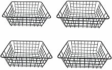 DLAGER 4 Pack Metal Wire Iron Storage Basket
