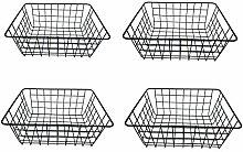DLAGER 4 Pack Metal Wire Iron Storage Basket