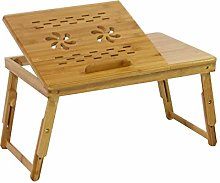 DlandHome Bamboo Foldable Bed Tray, Laptop Desk