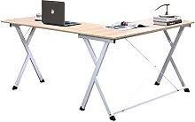 DlandHome L-Shaped Computer Desk 120cm + 110cm,