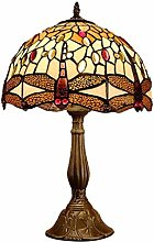 DLC 12Inch Dragonfly Decorative Desk Lamp, Stained