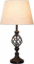 DLC Bedside Table Lamps, American Wrought Iron