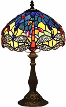DLC Lamp W10H16.5 Blue Stained Glass Crystal Bead