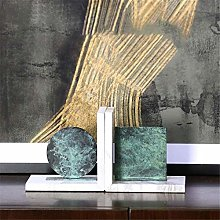 Dljyy Art Desktop Bookends,Marble Nonskid Bookends