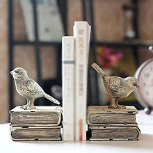 Dljyy Bookends Vintage Tabletop Bookend Organizer