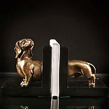Dljyy Decorative Bookend Dog Bookends Rustic